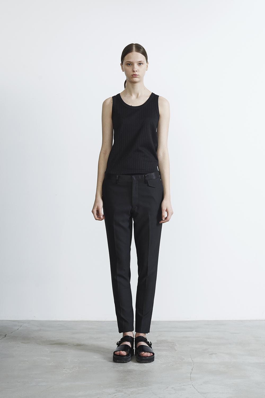 R2017 RERACS TUXEDO SLIM PANTS (BLACK)