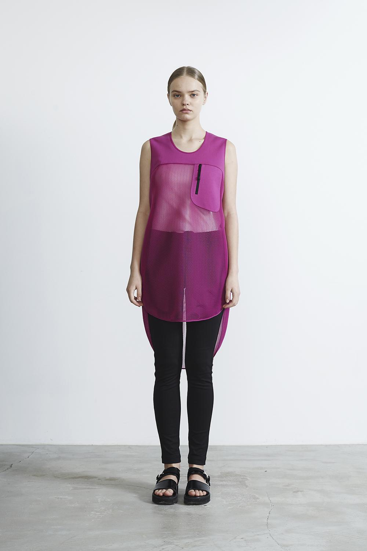 R2017 SHORT MESH DRESS (PINK)