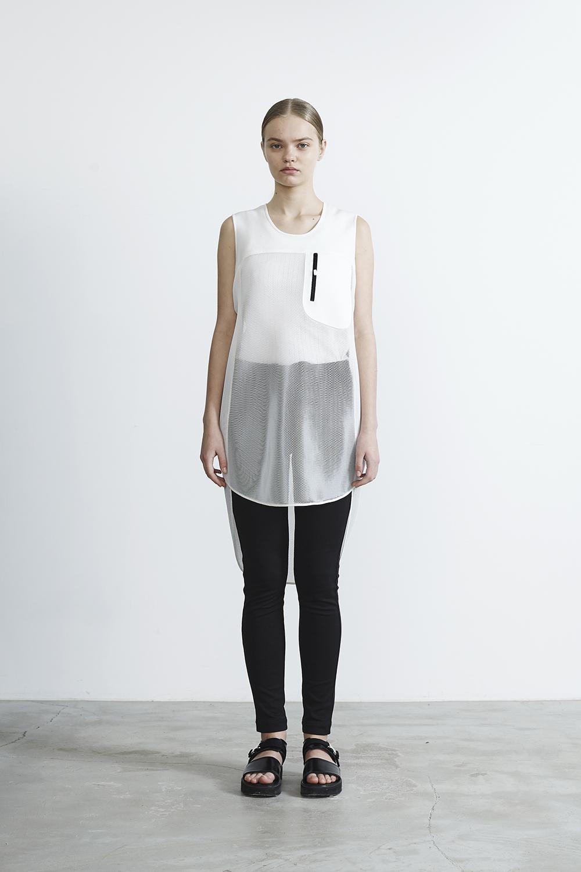R2017 SHORT MESH DRESS (WHITE)