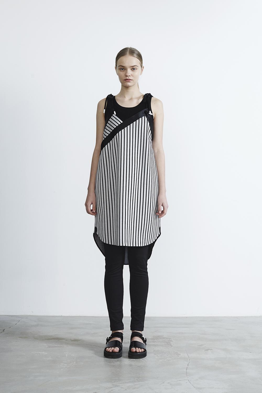 R2017 PT DRESS (WHITE STRIPE)