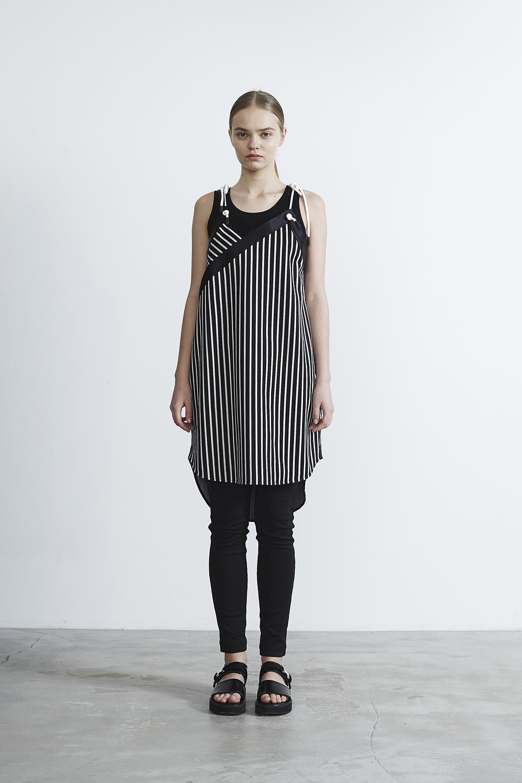 R2017 PT DRESS (NAVY STRIPE)