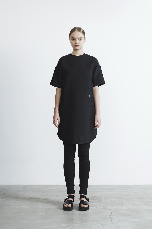 R2017 SILK×MOHAIR SWET LIKE DRESS (BLACK)