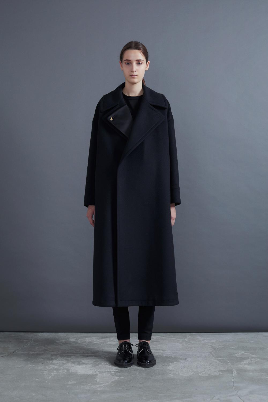 RERACS LONG P-COAT(BLACK)