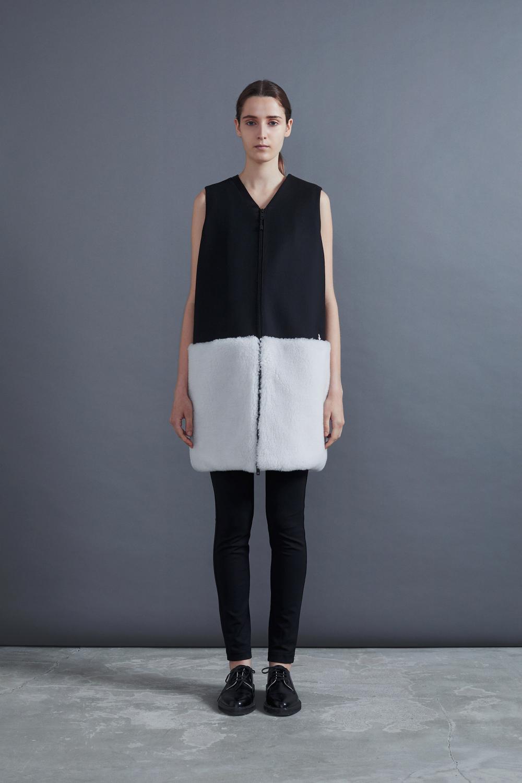 RERACS PT DRESS (BLACK*WHITE)