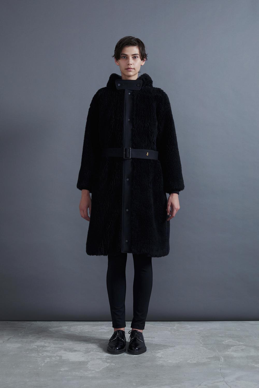 RERACS BOA HOODED COAT (BLACK)