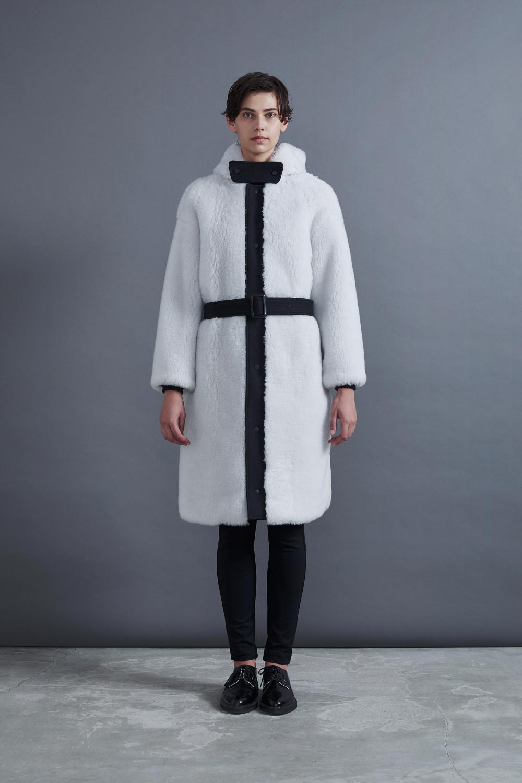 RERACS BOA HOODED COAT (WHITE)