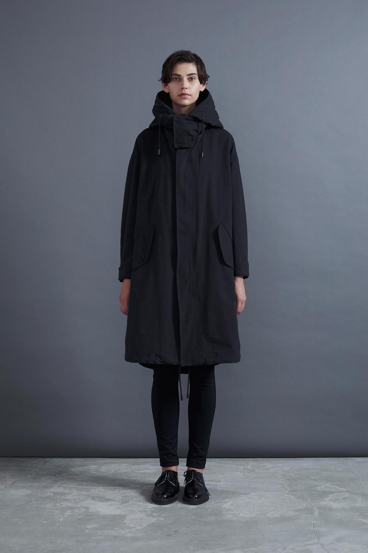 RERACS LONG MODS COAT (BLACK*BLACK)
