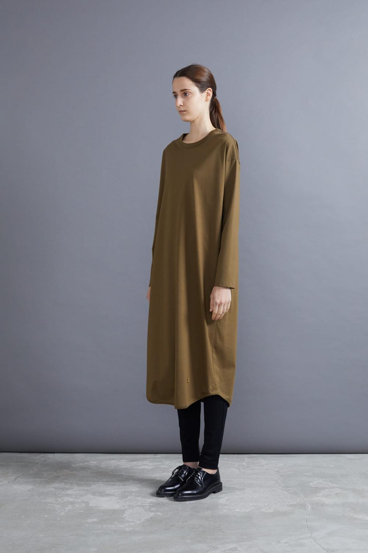 RERACS BASIC LONG DRESS(OLIVEBROWN)